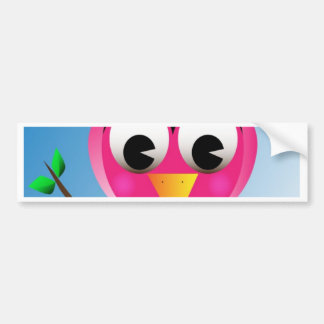 Bird with polka dotted bow bumper sticker