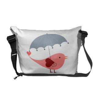 Bird with Umbrella Courier Bags