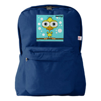 Bird(Yellow) Backpack, Navy Backpack