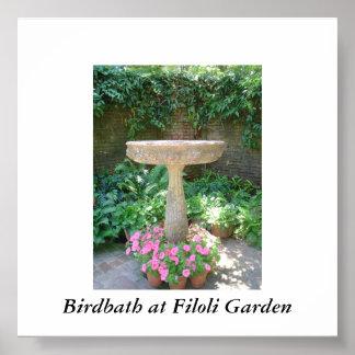 Birdbath at Filoli Garden Print