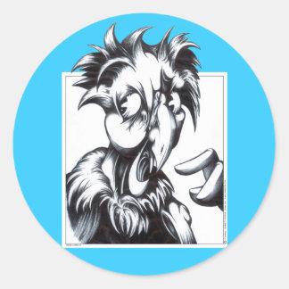 Birdbrain Round Sticker