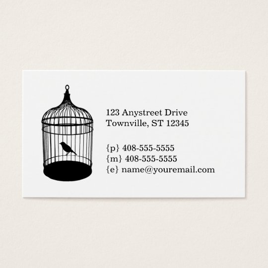 Birdcage business card