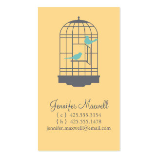 Birdcage Calling Card Double-Sided Standard Business Cards (Pack Of 100)
