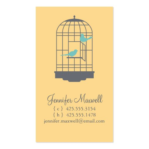 Birdcage Calling Card Business Card Templates