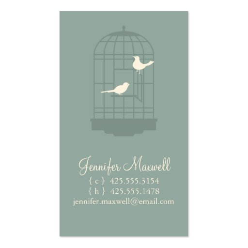 Birdcage Calling Card Business Card