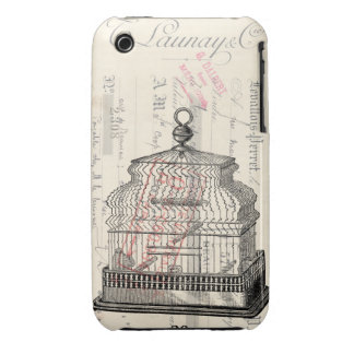 Birdcage Mixed Media Art Case-Mate iPhone 3 Cases
