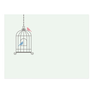 Birdcage Wedding Table Number Cards Postcard