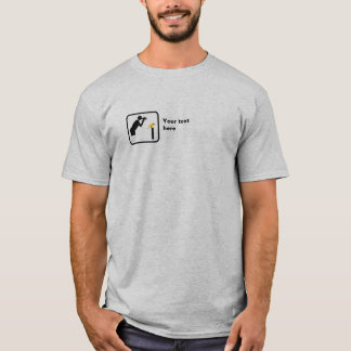 Birder / Bird Watcher Small Logo -- Customizable T-Shirt