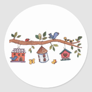 Birdhouses Stickers