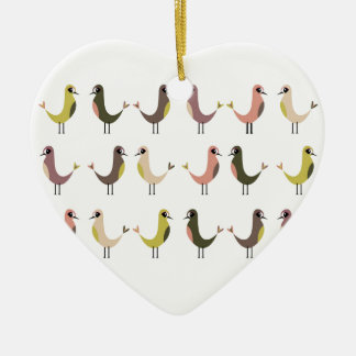 Birdie Ceramic Heart Decoration