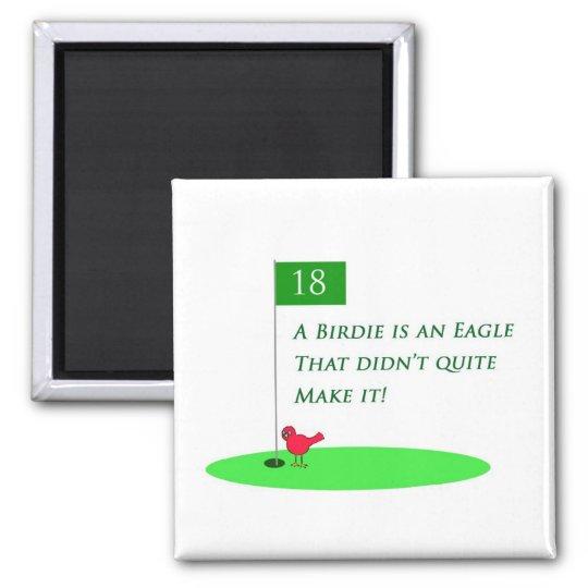 Birdie Eagle Golf Cartoon Magnet