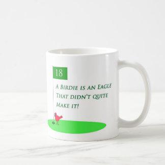 Birdie Eagle Golf Cartoon Mug