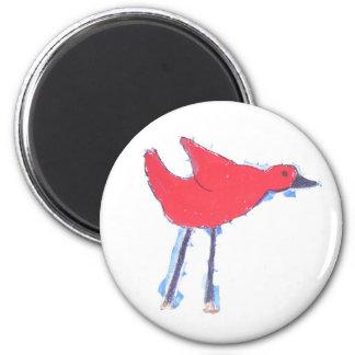 Birdie Fan Refrigerator Magnet