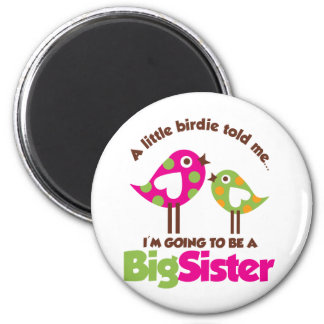 Birdie Going To Be A Big Sister 6 Cm Round Magnet