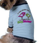 Birdie Going To Be A Big Sister Doggie Tee Shirt