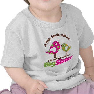 Birdie Going To Be A Big Sister Tee Shirt
