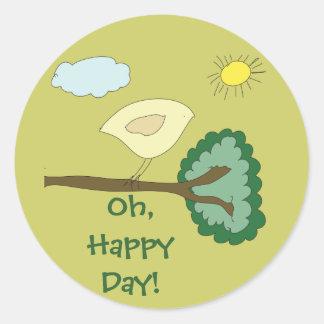 """Birdie """"Oh, Happy Day!"""" Sticker"""