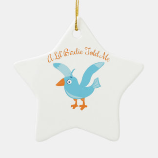 Birdie Told Me Christmas Ornament