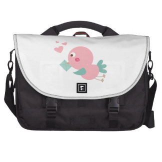 birdie with love letter computer bag