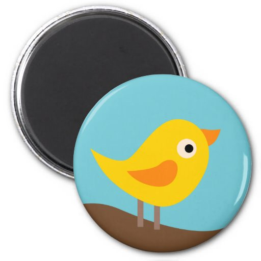 BirdieA3 6 Cm Round Magnet