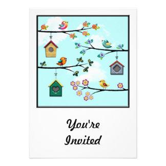 Birdies & Houses Invitations