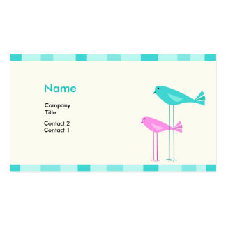 Birdies Profile Card Double-Sided Standard Business Cards (Pack Of 100)