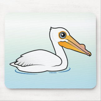 BIrdorable American White Pelican Mouse Pads