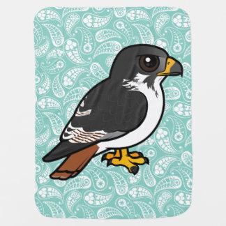 Birdorable Augur Buzzard Receiving Blankets