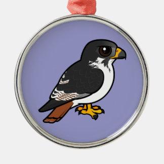 Birdorable Augur Buzzard Silver-Colored Round Decoration