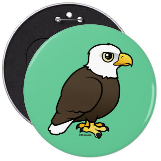 Birdorable Bald Eagle 6 Cm Round Badge