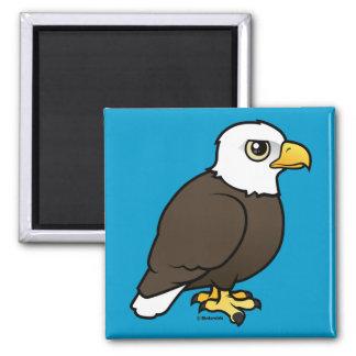 Birdorable Bald Eagle Square Magnet
