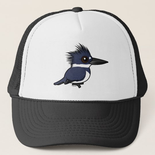 Birdorable Belted Kingfisher (male) Trucker Hat