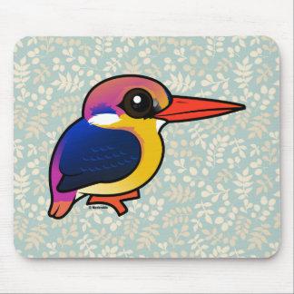 Birdorable Black-backed Dwarf-Kingfisher Mouse Pad