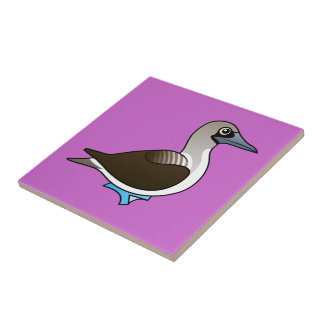 Birdorable Blue-footed Booby Small Square Tile