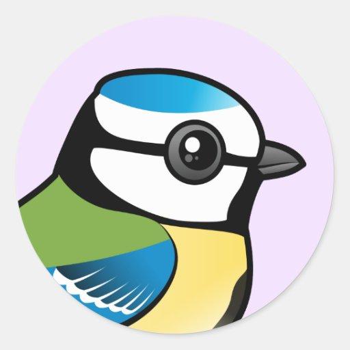 Birdorable Blue Tit Round Sticker