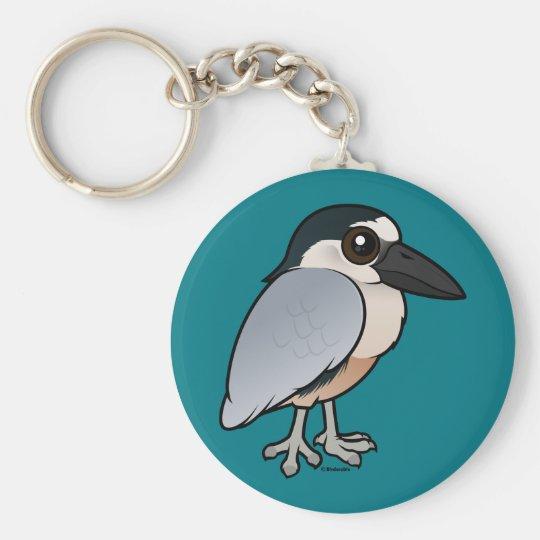 Birdorable Boat-billed Heron Basic Round Button Key Ring