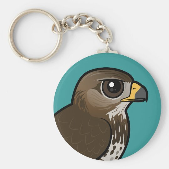 Birdorable Common Buzzard Basic Round Button Key Ring