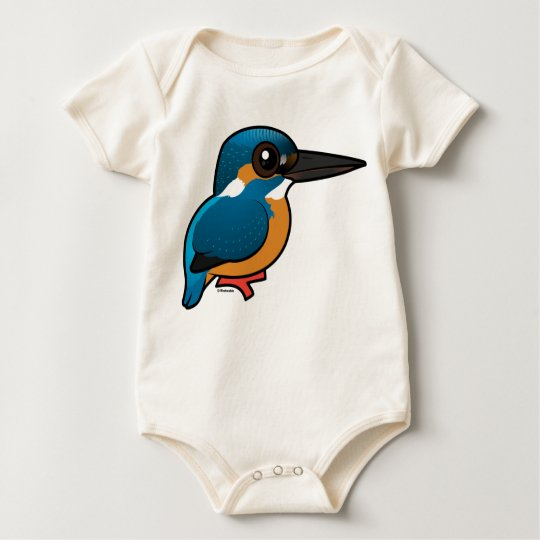 Birdorable Common Kingfisher Baby Bodysuit