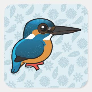 Birdorable Common Kingfisher Square Sticker