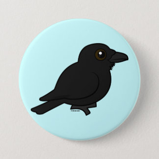 Birdorable Common Raven 7.5 Cm Round Badge