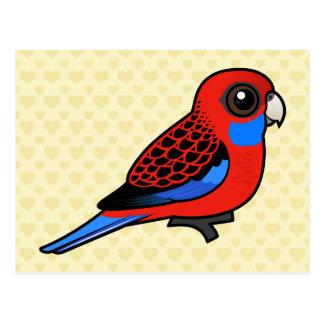 Birdorable Crimson Rosella Postcard