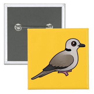 Birdorable Eurasian Collared Dove 15 Cm Square Badge