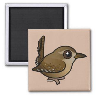 Birdorable Eurasian Wren Square Magnet