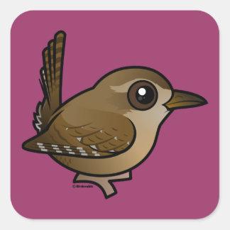 Birdorable Eurasian Wren Square Sticker