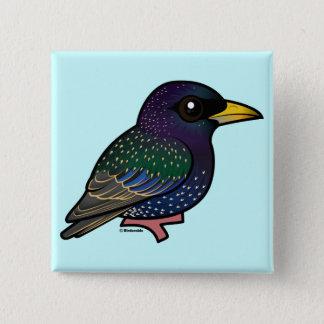 Birdorable European Starling 15 Cm Square Badge