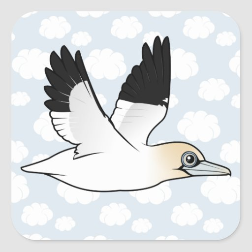 Birdorable Flying Northern Gannet Sticker