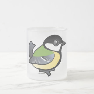 Birdorable Great Tit Frosted Glass Coffee Mug