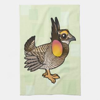Birdorable Greater Prairie-Chicken Tea Towel