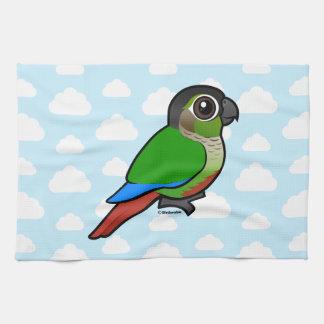 Birdorable Green-cheeked Conure Tea Towel