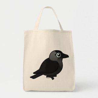 Birdorable Jackdaw Grocery Tote Bag